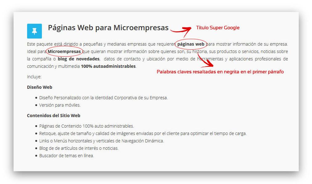 como escribir los contenidos para una pagina web